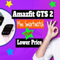 "Amazfit GTS 2 Mini Smartwatch featured image with text:""New Amazfit GTS 2 Mini smartwatch shrinks the display""."