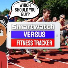 "Featured Image with text: ""Smartwatch versus Fitness Tracker""."