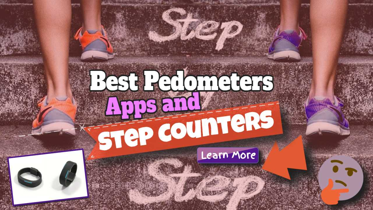 """Featured image with text: """"Best pedometers apps and step counters""""."""