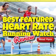 "Featured image text: ""Heart rate running watch review""."